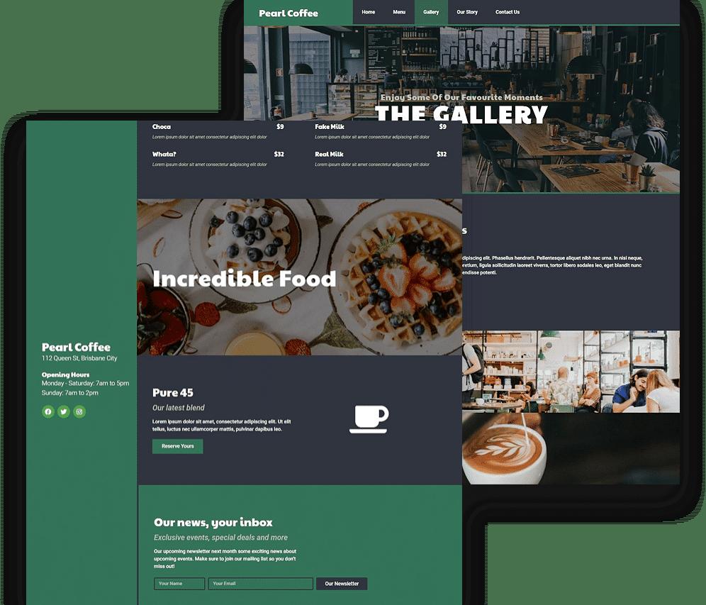Cafe Template Kit Demo