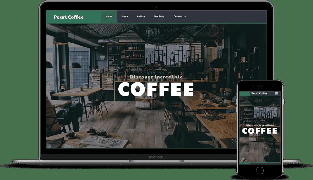 Cafe Template Website Kit