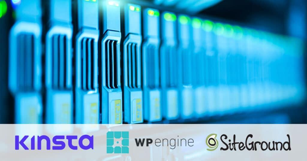 Hosting Kinsta WP Engine SiteGround